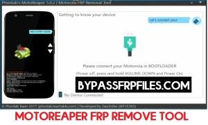 Download Motoreaper FRP Tool | New One-Click Motorola FRP Remove Tools