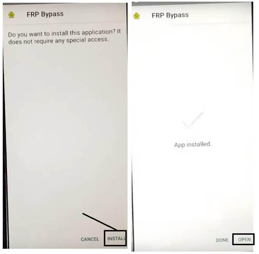 Install FRP Bypass APK