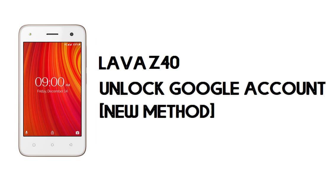 Lava Z40 FRP Bypass - Unlock Google Account – Android 8.1 Go Free