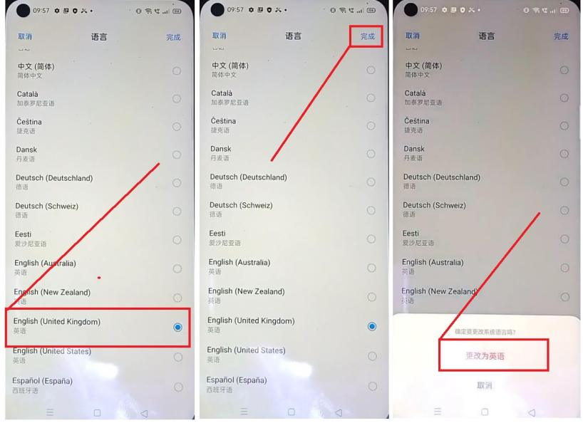 Change Language to English to Bypass Unlock Oppo