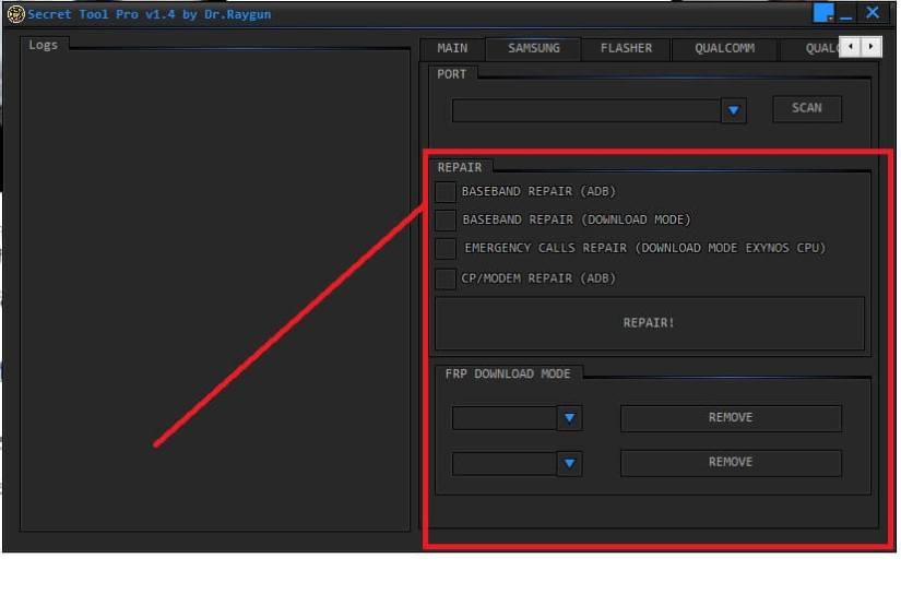 Samsung Functions Secret FRP Tool Pro Free