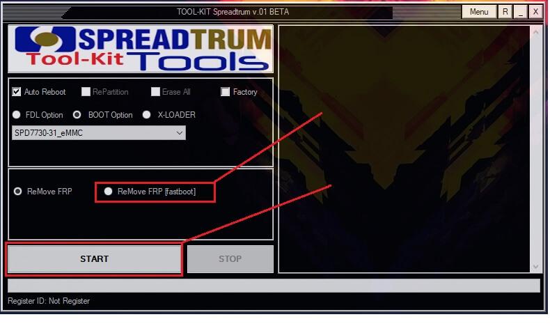 Remove FRP Fastboot in SPD FRP Unlock Tool Spreadturm