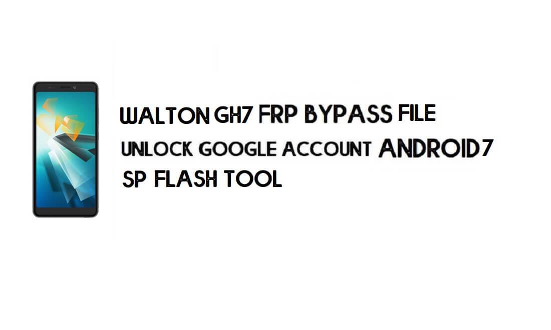 Walton Primo GH7 FRP Bypass File (MT6580) - Reset Google (Free)