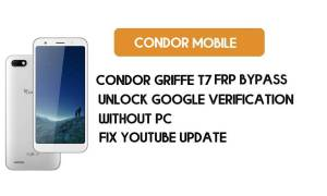 Condor Griffe T7 FRP Bypass Without PC – Unlock Google Android 8.1 Go