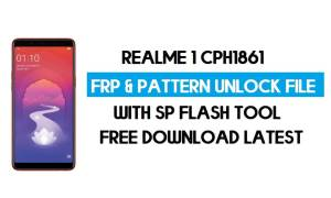 Realme 1 CPH1861 Unlock FRP & Pattern File (Without Auth) SP Tool
