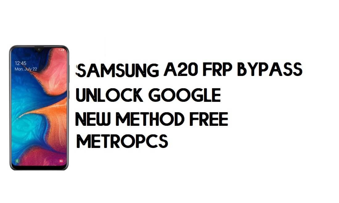 Samsung Galaxy A20 SM-A205U (MetroPCS) Android 9 FRP Unlock/Google Account Bypass WITHOUT PC