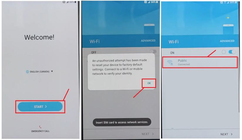 Samsung FRP Bypass Unlock Google Android 7