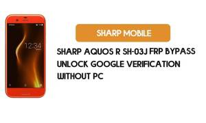 Sharp Aquos R SH-03J FRP Bypass NO PC – Unlock Google Android 9