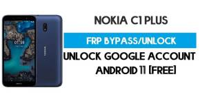 Nokia C1 Plus FRP Bypass – Unlock Google GMAIL Lock [Android 10 Go] Free New Method (Without PC)