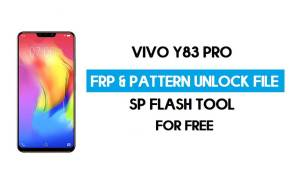 Vivo Y83 Pro FRP Pattern Unlock File (Reset Pattern/Google lock) SP Tool
