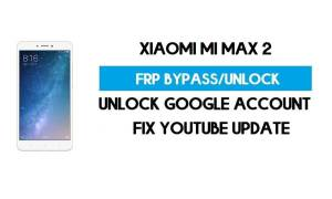 Unlock FRP Xiaomi Mi Max 2 (Fix Youtube Update) Bypass GMAIL Lock