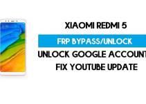 Unlock FRP Xiaomi Redmi 5 (Fix Youtube Update) Bypass GMAIL Lock Latest Method