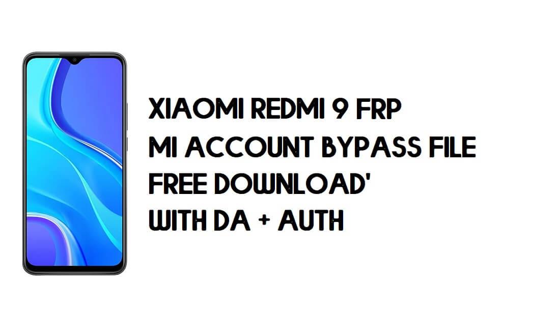 Xiaomi Redmi 9 FRP MI Account Bypass File (With DA + AUTH) Download