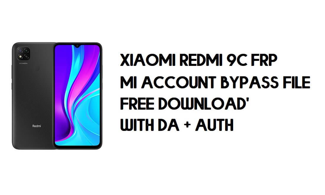 Xiaomi Redmi 9C FRP MI Account Bypass File (with DA) Free Download Latest
