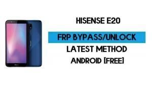HiSense E20 FRP Bypass Without PC - Unlock Google Gmail Android 10
