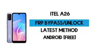ITel A26 FRP Bypass Without PC - Unlock Google Gmail lock Android 10