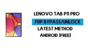 Lenovo Tab P11 Pro FRP Lock Bypass – Unlock GMAIL [Android 10] Free