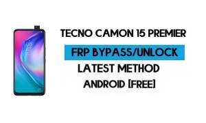 Tecno Camon 15 Premier FRP Lock Bypass – Unlock GMAIL [Android 10]