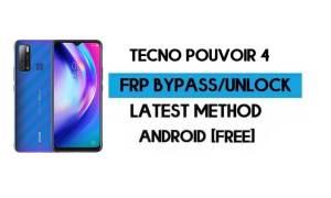 Tecno Pouvoir 4 FRP Lock Bypass – Unlock Gmail [Android 10] New 2021