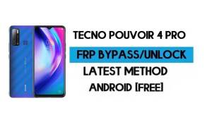 Tecno Pouvoir 4 Pro FRP Lock Bypass – Unlock GMAIL [Android 10] Free