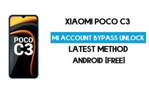 Xiaomi Poco C3 Mi Account Remove With SP Flash Tool Free