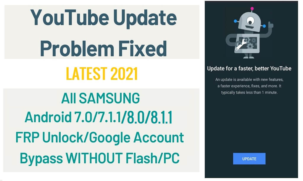 Samsung FRP Fix YouTube Update Problem Without PC Android 7.1 - 8.1