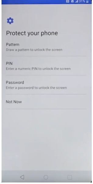 Select pattern to LG Android 8.1 FRP Bypass Unlock Google GMAIL Lock Account Verification Reset