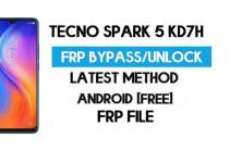 Tecno Spark 5 KD7h FRP File (With DA) Unlock by SP Tool – Latest Free