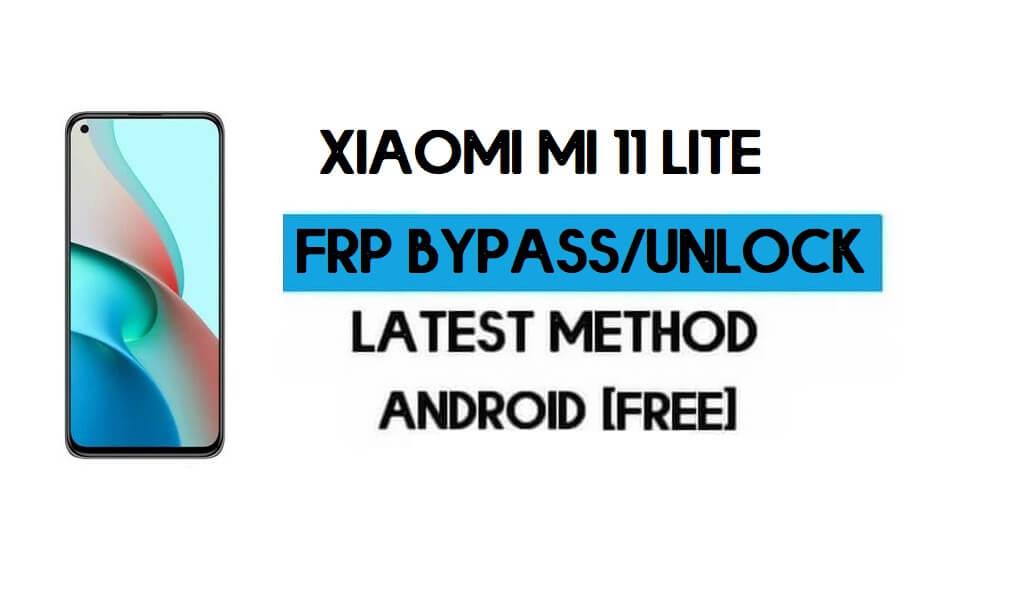 Xiaomi Mi 11 Lite MIUI 12.5 FRP Unlock/Google Account Bypass (2021)