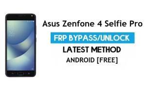 Asus Zenfone 4 Selfie Pro ZD552KL FRP Bypass – Unlock Gmail lock free