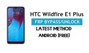 HTC Wildfire E1 Plus FRP Bypass – Unlock Gmail Lock Android 9.0 No PC