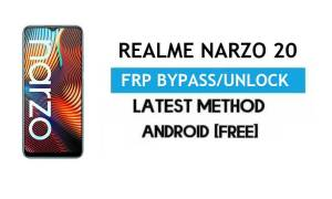 Realme Narzo 20 Android 11 FRP Bypass – Unlock Google Gmail [No PC]