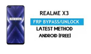 Realme X3 Android 11 FRP Bypass – Unlock Google Gmail Without PC