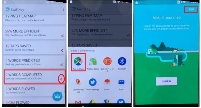 Select MAPS to Sony Android 8 FRP Bypass Unlock Google Account GMAIL Verification