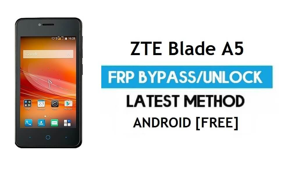 FRP Unlock ZTE Blade A5 [Bypass Google gmail lock Android 9 Go No PC