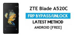 ZTE Blade A520C FRP Bypass Android 7 – Unlock Google Gmail Lock [Without PC] [Fix Location & Youtube Update]
