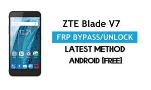 ZTE Blade V7 FRP Bypass – Unlock Google Gmail lock Android 6 (No PC)