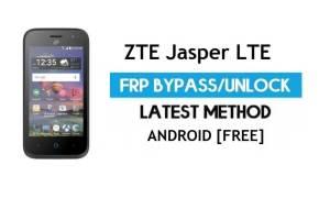 ZTE Jasper LTE FRP Bypass – Unlock Google Gmail Lock Android 6.0