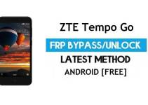 ZTE Tempo Go FRP Bypass Android 8.1 Go – Unlock Google Gmail Lock [Without PC] Latest Method
