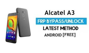 Alcatel A3 FRP Bypass Without PC – Unlock Google Gmail Android 6.0