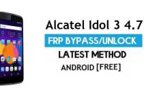 Alcatel Idol 3 4.7 FRP Bypass – Unlock Google Gmail Lock (Android 6.0) Without PC Latest