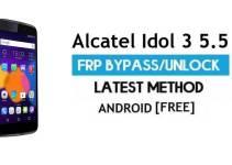 Alcatel Idol 3 5.5 FRP Bypass – Unlock Google Gmail Lock (Android 6.0) Without PC Latest