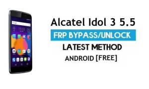 Alcatel Idol 3 5.5 FRP Bypass Without PC – Unlock Gmail Lock Android 6