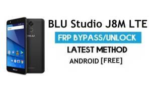 BLU Studio J8M LTE FRP Bypass – Unlock Google Gmail lock Android 7.0