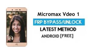 Micromax Vdeo 1 Q4001 FRP Bypass Without PC Unlock Gmail Android 6