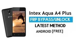 Intex Aqua A4 Plus FRP Bypass Unlock Gmail lock Android 7.0 Without PC