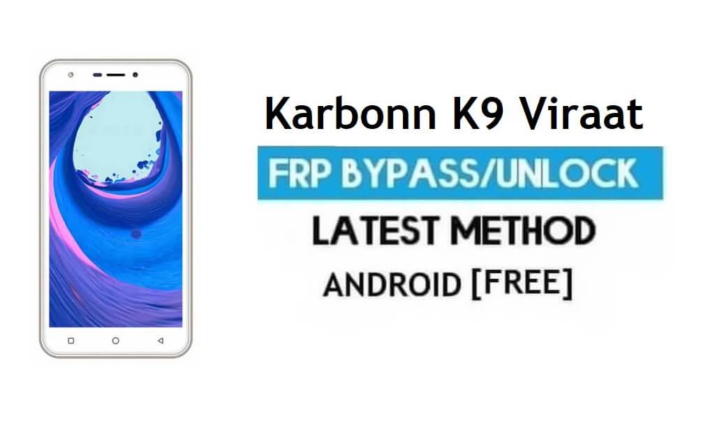 Karbonn K9 Viraat FRP Unlock Google Account Bypass Android 6.0 No PC