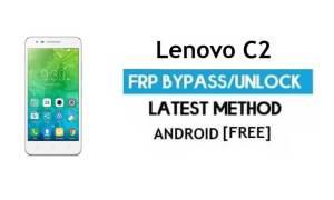 Lenovo C2 k10a40 FRP Unlock Google Account Bypass Android 6 No PC