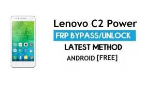 Lenovo C2 Power FRP Unlock Google Account Bypass Android 6.0 No PC