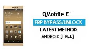 QMobile E1 FRP Unlock Google Account Bypass Android 6.0 Without PC